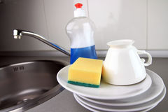 Clean dishware Royalty Free Stock Photos
