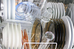 Clean Dishware Royalty Free Stock Images