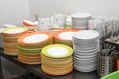 Clean Dishware Set Royalty Free Stock Photo