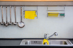 Clean dishwasher at the kitchen Royalty Free Stock Images