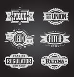 Clean and distressed retro  grunge banners, seals and Royalty Free Stock Image