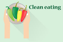 Clean eating concept Royalty Free Stock Images