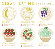Clean eating daily simple Royalty Free Stock Images