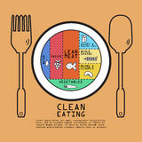 Clean eating volume design Royalty Free Stock Images