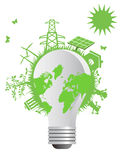 The clean eco light bulb. The concept background of clean eco light bulb Royalty Free Stock Image