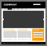 Clean editable  web site design template - f Royalty Free Stock Image