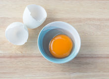 Clean egg in a bowl Stock Photography