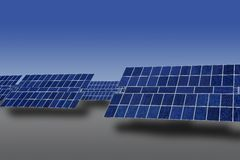 Clean electric energy solar plates generators Royalty Free Stock Photo