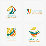 Clean elegant circle shaped abstract geometric Stock Photos