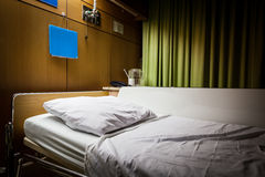 Clean empty sickbed in a hospital ward Stock Photography