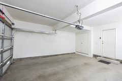 Clean Empty Two Car Garage Interior royalty free stock photos