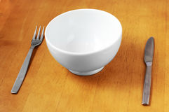 Clean, Empty White Bowl. Royalty Free Stock Photography