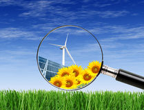 Clean energies trought the lens Stock Images