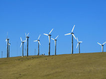 Clean energy. Clean system to generate energy using wind royalty free stock photo