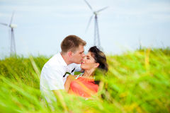 Clean energy. Young generation choosing clean energy Royalty Free Stock Photos