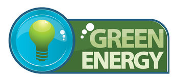 Clean energy. Vector illustration for sustainable energy development by light. cool idea for a logo or icon for commercials or companies working on new energy Royalty Free Stock Photography