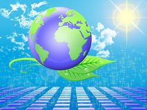 Clean energy. Concept of clean energy for the world Royalty Free Stock Photo