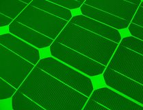 Clean Energy. Solar panel closeup; for alternative energy themes Stock Images