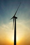 Clean energy. The wind power generation and the solar energy all will be the human future energy hope Stock Image