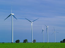 Clean energy. Wind farm, a symbol of environmetal conservation Stock Image