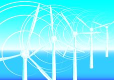 Clean energy. Abstract background clean energy concept, vector. gradient mash royalty free illustration