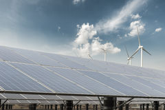 Clean energy against a blue sky Royalty Free Stock Photography