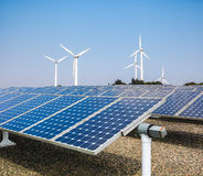 Clean energy background Stock Photography