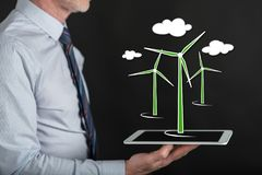 Concept of clean energy Stock Photos