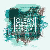 Clean Energy Concept abstract typographic vintage style grunge poster. Retro vector illustration. Royalty Free Stock Photography