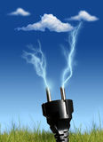 Clean energy. Clean energy concept. Over blue sky background Stock Photography