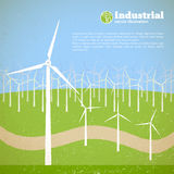Clean energy concept with wind generators Stock Photo