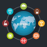 Clean energy design Royalty Free Stock Photography