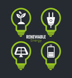 Clean energy design Stock Images