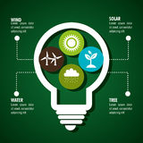 Clean energy design Royalty Free Stock Photo