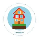 Clean energy house green home. Vector illustration eps 10 vector illustration