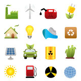 Clean energy icon set Royalty Free Stock Photo