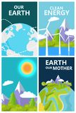 Clean Energy for Mother Earth Planet Protection Stock Photography