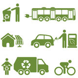 Clean energy, recycling and environment. Symbols Stock Images