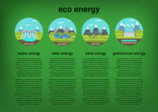 Clean energy sources stock illustration