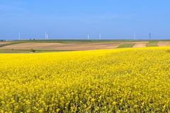 Clean energy in the spring on Polish countryside Stock Photography