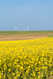 Clean energy in the spring on Polish countryside Royalty Free Stock Photo