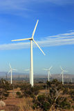 Clean Energy from Wind Stock Photo