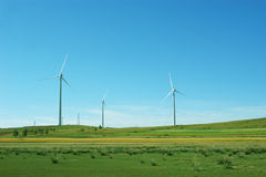 Clean energy, wind power Stock Photos