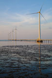 Clean energy, wind power plant Stock Image