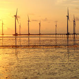Clean energy, wind power plant Stock Images