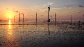 Clean energy, wind power plant Royalty Free Stock Photography