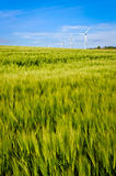 Clean energy wind turbine Stock Images