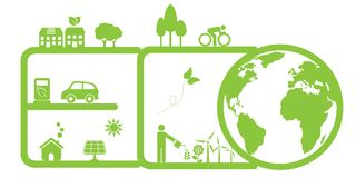 Clean environment and eco stock illustration