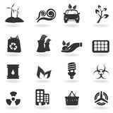 Clean environment symbols Royalty Free Stock Images