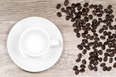 Clean espresso cup on a table Stock Image